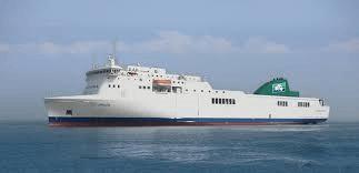 MS Epsilon Ferry , Chartered by Irish Ferries